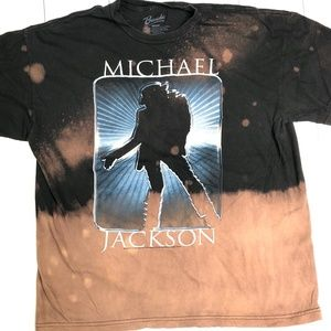 Michael Jackson Y2K Bleach Tie Dyed Tshirt